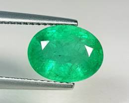 "2.60 ct "" Fantastic Gem "" Oval Cut Top Green Natural Emerald"