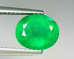 "2.35 ct "" Top Quality Gem "" Oval Cut Top Green Natural Emerald"