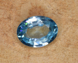 Natural Blue Zircon 1.57 Cts Top Luster Gemstone