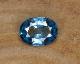 Natural Blue Zircon 1.67 Cts Top Luster Gemstone