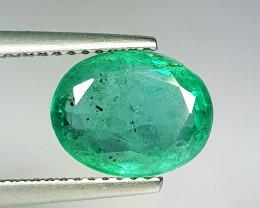 """2.60 ct """" Excellent Gem """" Oval Cut Top Green Natural Emerald"""