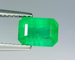 "1.85 ct "" AAA Grade Gem "" Octagon Cut Top Green Natural Emerald"