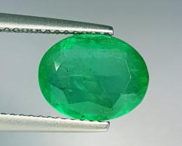 "2.85 ct "" Exclusive Gem "" Oval Cut Top Green Natural Emerald"