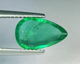 """1.75 ct """" Colective Gem """" Pear Cut Top Green Natural Emerald"""