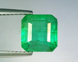 "3.30 ct "" Top Grade Gem "" Octagon Cut Top Green Natural Emerald"