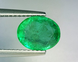 "1.95 ct ""AAA Grade Gem "" Oval Cut Top Green Natural Emerald"