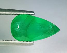 "2.40 ct "" Collective Gem "" Pear Cut Top Green Natural Emerald"