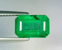 """3.10 ct """" Top Grade Gem """" Octagon Cut Top Green Natural Emerald"""