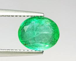 """2.00 ct """" Top Grade Gem """" Oval Cut Top Green Natural Emerald"""