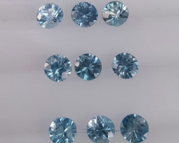 Natural Zircon Calibrated Sizes