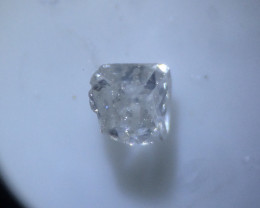 0.01 ct faint fancy white I2 vintage diamond
