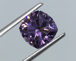 2.02 Ct. VVS Amethyst Master Cut Flawless Incredible Flash Quality !