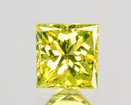 0.06 Cts Natural Diamond Golden Yellow Square Cut Africa