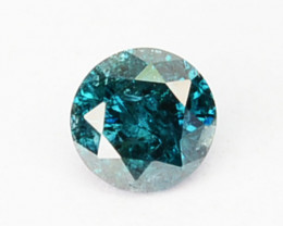 ~LUSTEROUS~ 0.10 Cts Natural Blue Diamond Round Africa