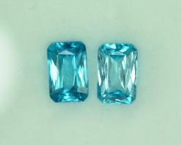 4.53 Cts Wonderful Lustrous Cambodian Blue Zircon Pair