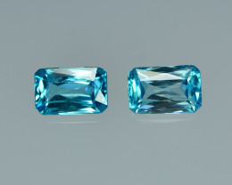 4.53 Cts Wonderful Lustrous Cambodian Blue Zircon Pair