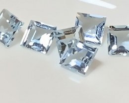 ⭐A premium parcel of 6 Aquamarine gems 4.50mm VVS