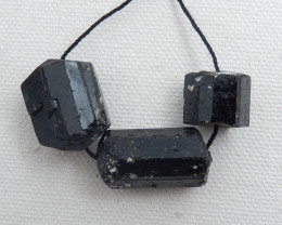 Natural Black Tourmaline Strand ,Gemstone Necklace ,Birthday Stone ,Gift C5