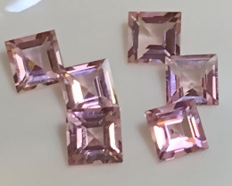 6 Piece Premium Pink Tourmaline Parcel 4.00mm Flawless quality