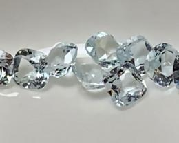 ⭐A marvellous parcel of 9 Aquamarine gems 4.00mm VVS