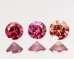 0.06 Cts Natural Brownish Pink Diamond 1.50mm Round 3 Pcs Africa