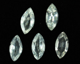 2.50Cts Natural White Sapphire Marquise Parcel Sri Lanka
