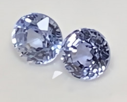 ⭐3.70mm BLUE SAPPHIRE PAIR - ROUND CUT JEWELLERY GRADE GEMS