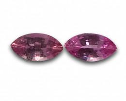 Natural pink Sapphire pair |Loose Gemstone|New| Sri Lanka