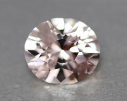 Flawless natural pinkish morganite.