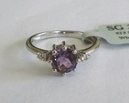 Amethyst 925 sterling silver ring #246
