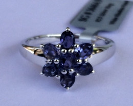 Iolite 925 Sterling silver ring #464