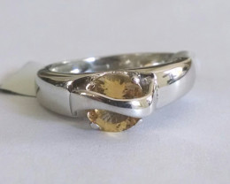 Citrine 925 Sterling silver ring #198