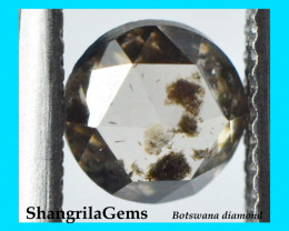 5.95mm 0.83ct brown rose cut diamond untreated fully traceable