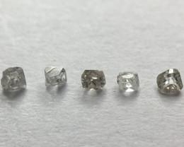 0.035ct 5 x antique / vintage / Old cut diamonds