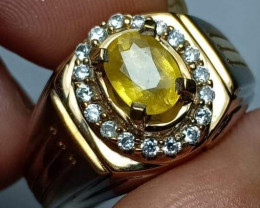 Natural Yellow Sapphire Silver Jewelry*
