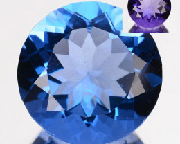 7.34 Cts Natural Color Change Fluorite 12 mm Round Cut Afghanistan