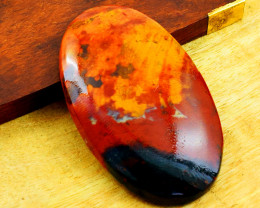 Genuine 79.00 Cts Bloodstone Oval Shape Cabochon