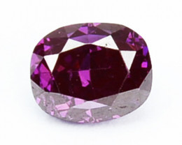 0.08 Cts Natural Purplish Pink Diamond Oval Africa