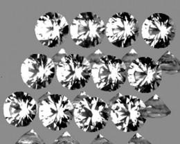 2.50 mm Round 12 pcs 1.12cts White Sapphire [VVS]