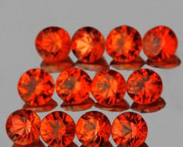 2.50 mm Round 12pcs  Orange Sapphire [VVS]