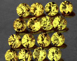 1.80 mm Round 30 pcs Canary Yellow Sapphire [VVS]