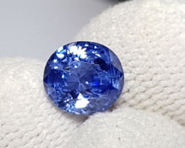 CERTIFIED 2.33 CTS NATURAL STUNNING CORNFLOWER BLUE SAPPHIRE SRI LANKA