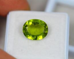 4.20ct Green Peridot Oval Cut Lot V4880