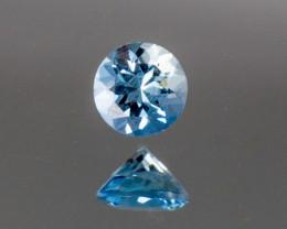Blue Aquamarine 0.13 ct Brazil GPC Lab