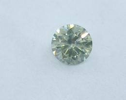 0.57ct  Light Green Diamond , 100% Natural Untreated