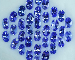 17.40Cts NATURAL TANZANITE - 6 X 4mm - OVAL - 34Pcs - PURPLE BLUE - TANZANI