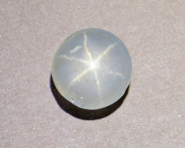 Natural Untreated White Star Sapphire 3.84Ct.(01390)