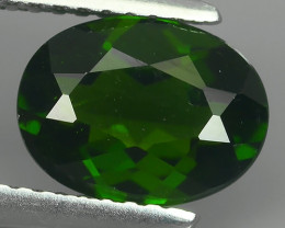 2.05 CTS NATURAL ULTRA RARE CHROME GREEN DIOPSIDE OVAL RUSSIA!!