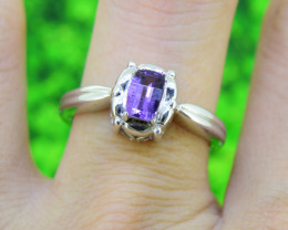Natural Amethyst 925 Sterling Silver Ring SIZE 7 US  (SSR0524)
