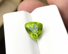 3.80 Ct Natural Greenish Yellow Internally Flawless Peridot Gemstone